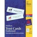 Avery Laser & Inkjet Embossed Tent Cards, 2 1/2in. x 8 1/2in.