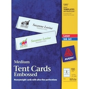 Avery® Laser & Inkjet Embossed Tent Cards, 2 1/2 x 8 1/2