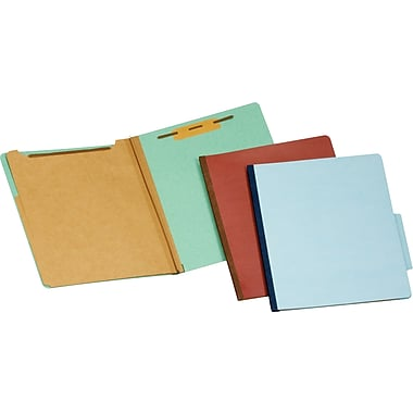 Staples® Pressboard Classification Folders, 2 Dividers, Legal Size, 20/Box