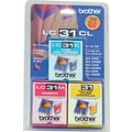 Brother LC31CL Color Ink Cartridges, 3/Pack