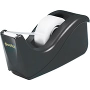 Scotch® C60 Two-Tone Desktop Tape Dispenser, Black