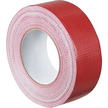 Staples® Colored Duct Tape, Red, 2in. x 60 yards, 3/Pack