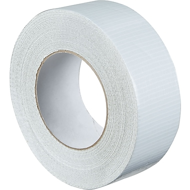 Staples® Colored Duct Tape, White, 2in. x 60 yards, 3/Pack