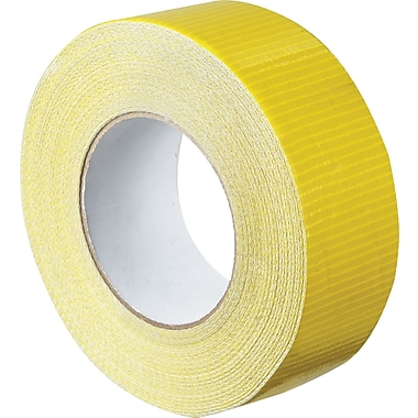 Staples® Colored Duct Tape, Yellow, 2in. x 60 yards, 3/Pack