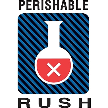 Tape Logic® Shipping Label, Perishable Rush, 4