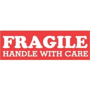 Tape Logic Fragile Handle with Care Staples® Shipping Label, 1-1/2 x 4, 500/Roll