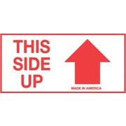 Tape Logic This Side Up Staples® Shipping Label, 2 x 4, 500/Roll