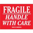Tape Logic Fragile Handle With Care Staples® Shipping Label, 3in. x 4in.