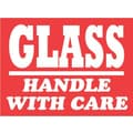 Tape Logic Glass Handle with Care Staples® Shipping Label, 3in. x 4in., 500/Roll