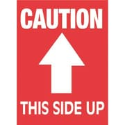 Tape Logic Caution This Side Up Staples® Shipping Label, 3 x 4, 500/Roll