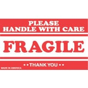 Tape Logic Fragile Please Handle with Care Staples® Shipping Label, 3 x 5, 500/Roll