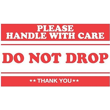Tape Logic Please Handle with Care Do Not Drop Staples® Shipping Label, 3in. x 5in., 500/Roll