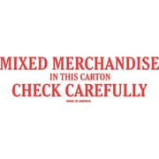 Tape Logic Mixed Merchandise Check Carefully Staples® Shipping Label, 2 x 6, 500/Roll