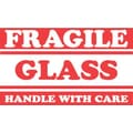 Tape Logic Fragile Glass Handle with Care Staples® Shipping Label, 3in. x 5in.