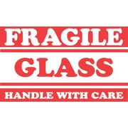 Tape Logic Fragile Glass Handle with Care Staples® Shipping Label, 3 x 5, 500/Roll