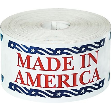 Tape Logic Made in America Staples® Shipping Label, 2-1/2in. x 5in., 500/Roll