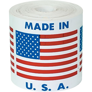 Tape Logic Made in U.S.A. Staples® Shipping Label, 4in. x 4in.