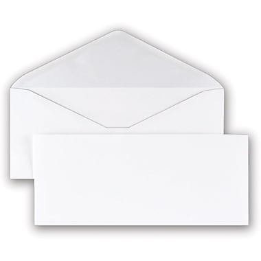 Staples® #10 Recycled Gummed Envelopes, 500/Box