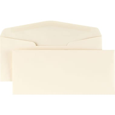 Staples® #10, Premium Diagonal-Seam Gummed Envelopes, Ivory, 500/Box