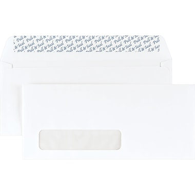 Staples® #10, Left Window QuickStrip Envelopes, 500/Box