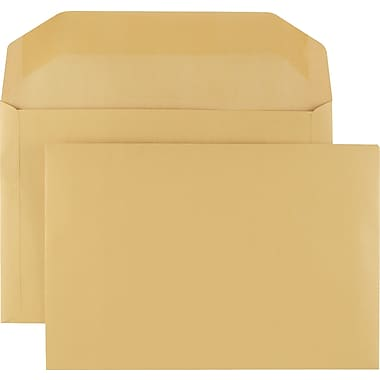 Staples® 10in. x 15in. Brown Kraft Extra-Heavyweight Booklet Envelopes, 75/Box