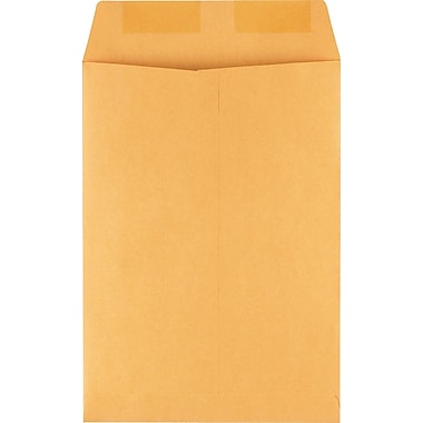 Staples® 7-1/2in. x 10-1/2in. Brown Kraft Catalog Envelopes, 100/Box
