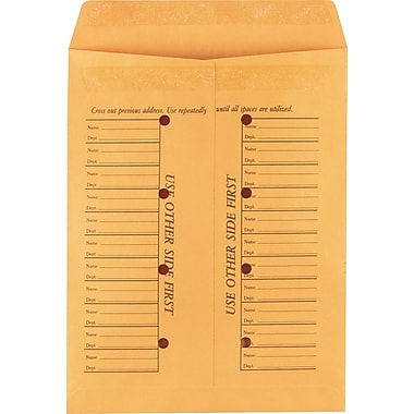 Staples® 10in. x 13in. Brown Kraft Resealable Inter-Departmental Envelopes, 100/Box