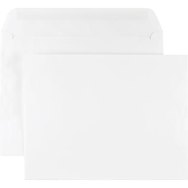 Staples® 9in. x 12in. White Wove Side-Opening Booklet Envelopes, 100/Box