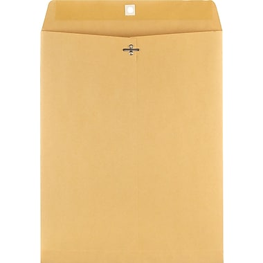 Staples® 11-1/2in. x 14-1/2in. Brown Kraft Clasp Envelopes, 100/Box