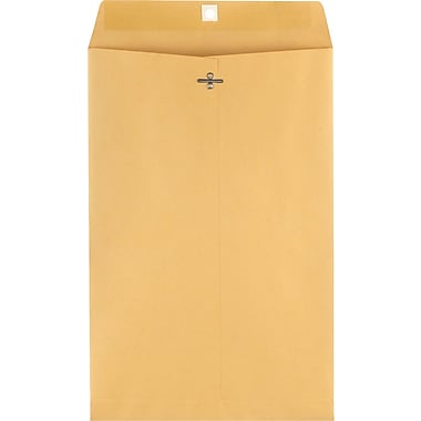 Staples® 10in. x 15in. Brown Kraft Clasp Envelopes, 100/Box