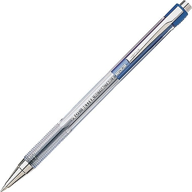 Pilot® Better® Retractable Ballpoint Pen, Medium Point, Blue, Dozen