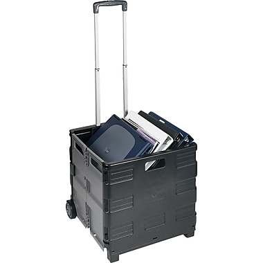 Staples® Rolling Folding Crate