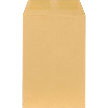 Staples® 6 x 9 Brown Kraft Catalog Envelopes, 100/Box