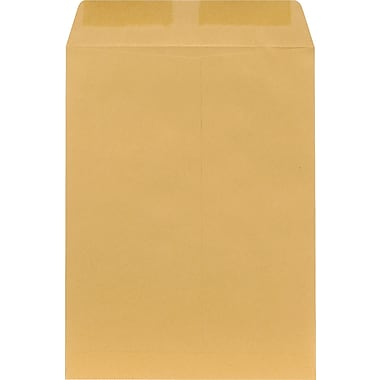 Staples® 9in. x 12in. Brown Kraft Catalog Envelopes, 100/Box