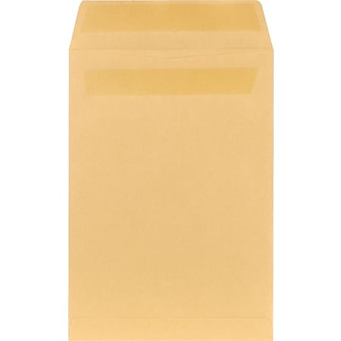 Staples® 7-1/2in. x 10-1/2in. Brown Kraft Self-Sealing Catalog Envelopes, 100/Box