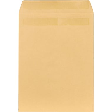 Staples® 10in. x 13in. Brown Kraft Self-Sealing Catalog Envelopes, 100/Box