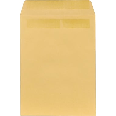 Staples® 9in. x 12in. Brown Kraft Self-Sealing Catalog Envelopes, 100/Box