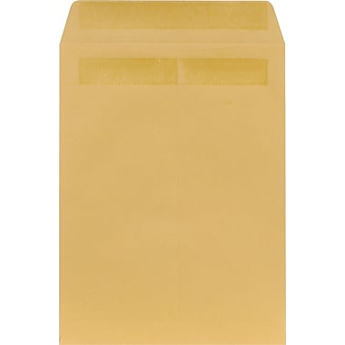 Staples® 9in. x 12in. Brown Kraft Self-Sealing Catalog Envelopes, 250/Box