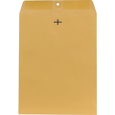 Staples® 10in. x 13in. Brown Kraft Clasp Envelopes, 250/Box