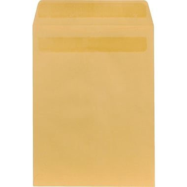 Staples® 9-1/2in. x 12-1/2in. Brown Kraft Self-Sealing Catalog Envelopes, 100/Box