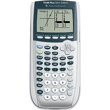 Texas Instruments TI-84 Plus Silver Edition Graphing Calculator (Silver)
