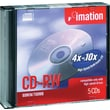 Imation 5/Pack 700MB CD-RW, Jewel Cases