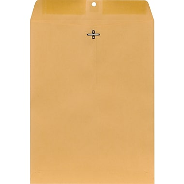Staples® 10in. x 13in. Brown Kraft Clasp Envelopes, 12/Pack