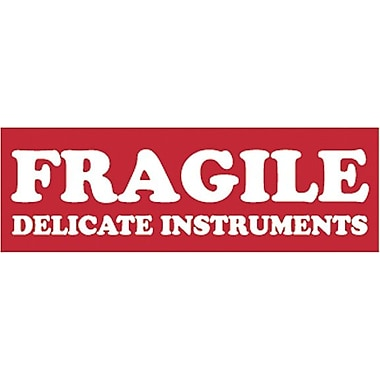 Tape Logic Fragile Delicate Instruments Staples® Shipping Label, 1-1/2in. x 4in., 500/Roll
