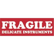 Tape Logic Fragile Delicate Instruments Staples® Shipping Label, 1-1/2 x 4, 500/Roll
