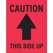 Tape Logic Caution This Side Up Staples® Shipping Label, 4 x 3, 500/Roll