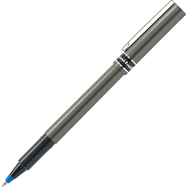 uni-ball® Deluxe™ Rollerball Pens, Micro Point, Blue, Dozen