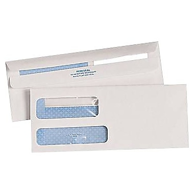 Quality Park™ #9, Double-Window Standard Invoice Size Redi-Seal™ Security-Tint Envelopes, 500/Box