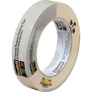 "3M Scotch® Commercial-Grade Masking Tape .94"" x 60 Yards Natural (2020-1A-BK)"
