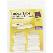 Avery®  Index Tabs with Printable Inserts